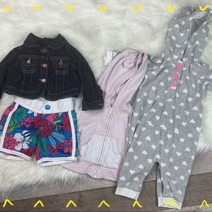 Girls 6-12 Months 4 piece clothing bundle